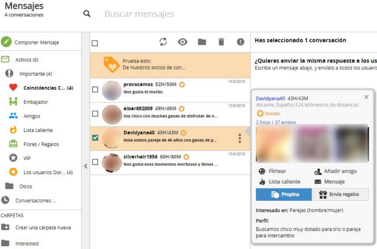 Adultfriendfinder España opciones de contacto