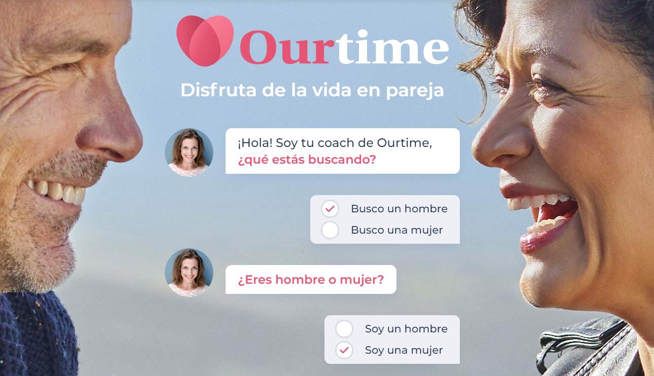 Our Time página para buscar pareja senior Registro