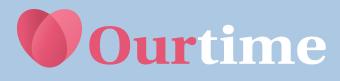 Logotipo página para buscar pareja OurTime
