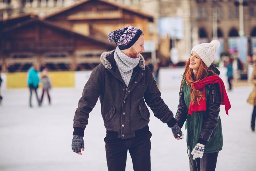 Patinar sobre hielo el Día de San Valentín
