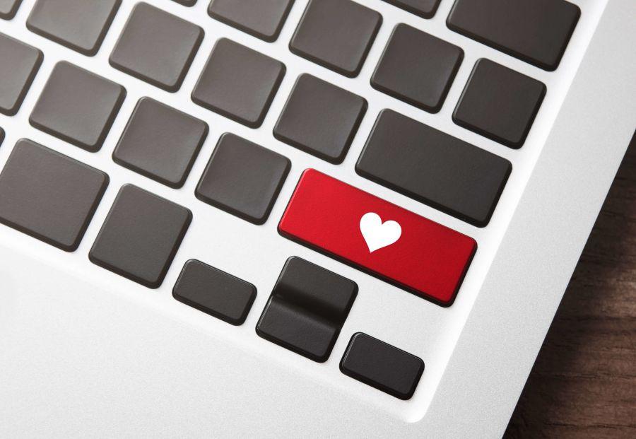 Un teclado con corazon