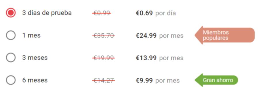 precios página de citas contactos rápidos