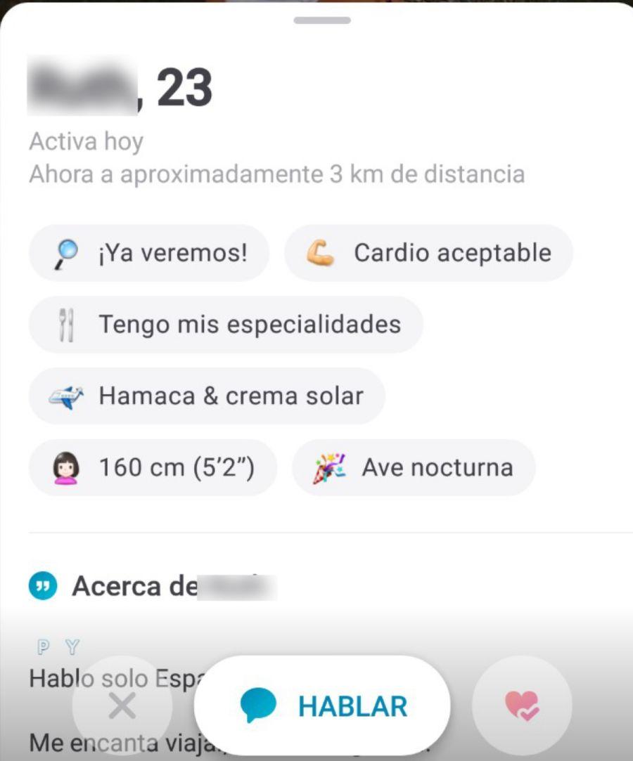 Contactar usuario en aplicación para ligar Happn España