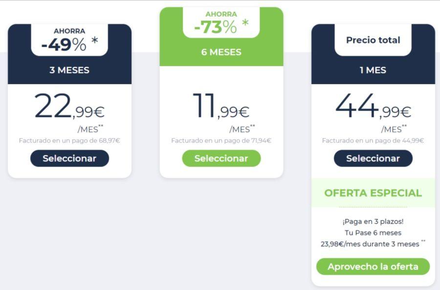 precio suscripciones premium España