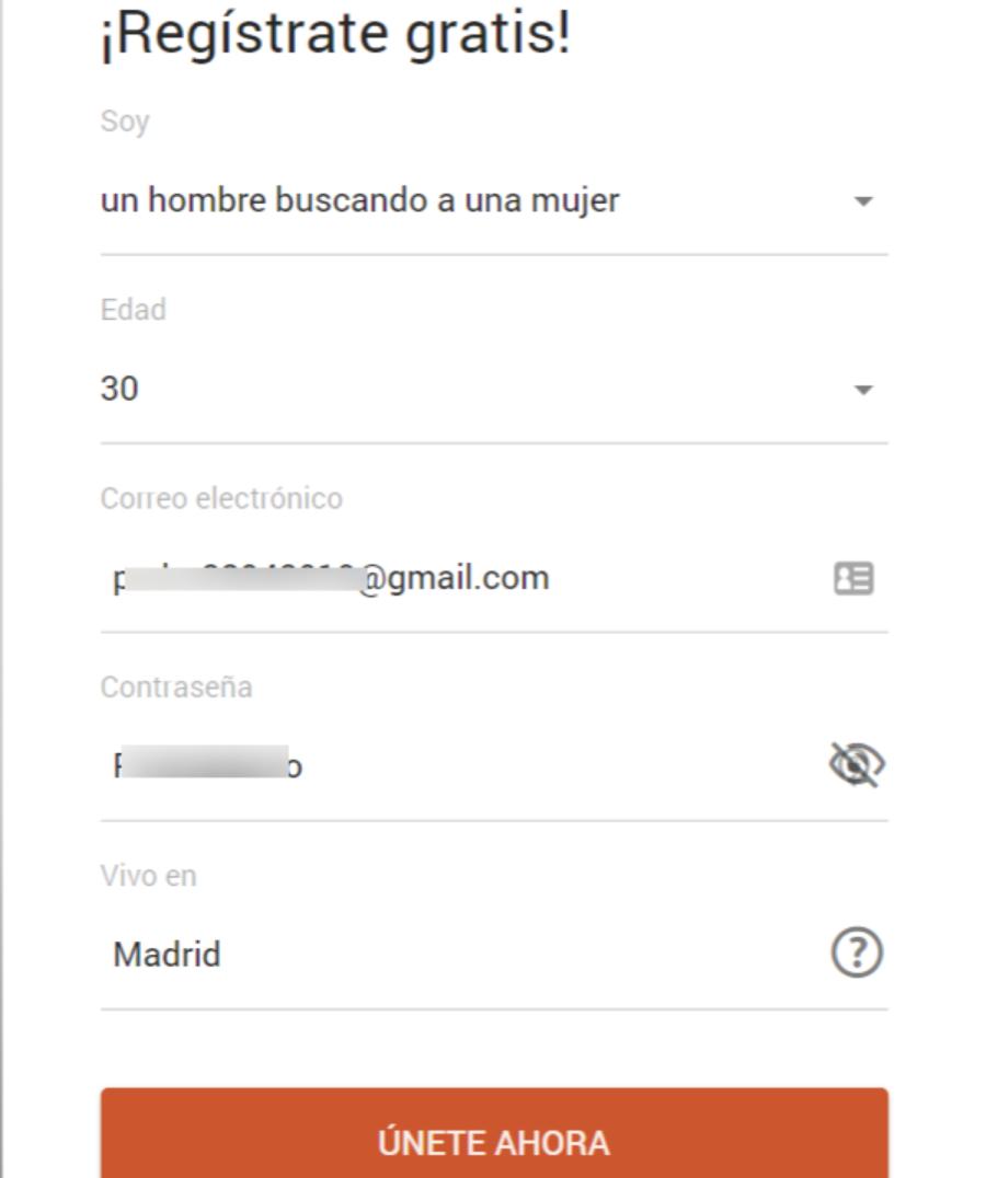 formulario de registro página de contactos quiero rollo