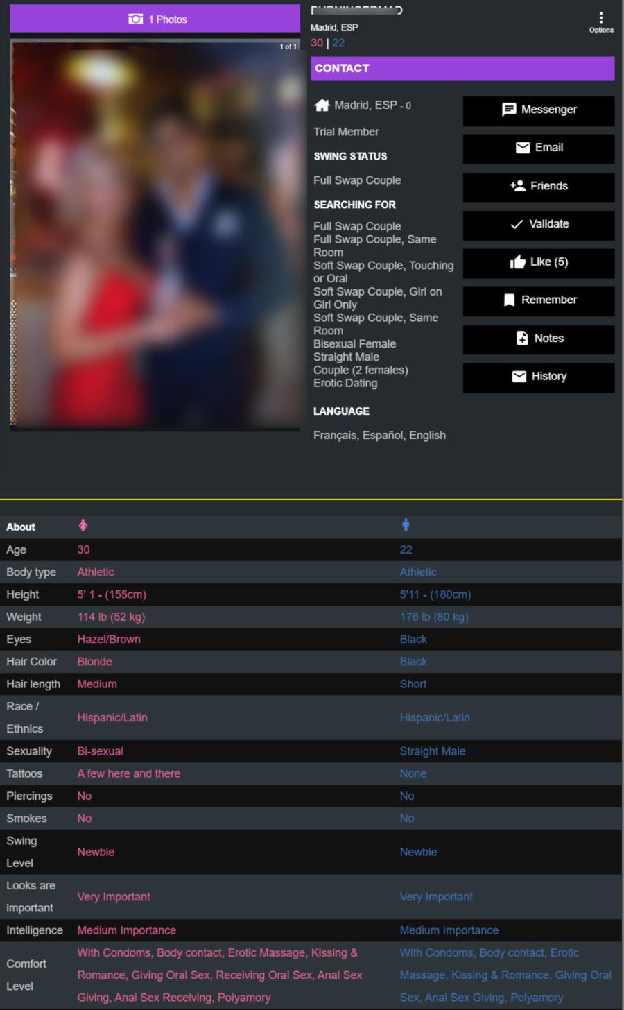 sdc perfil pareja swingers españa