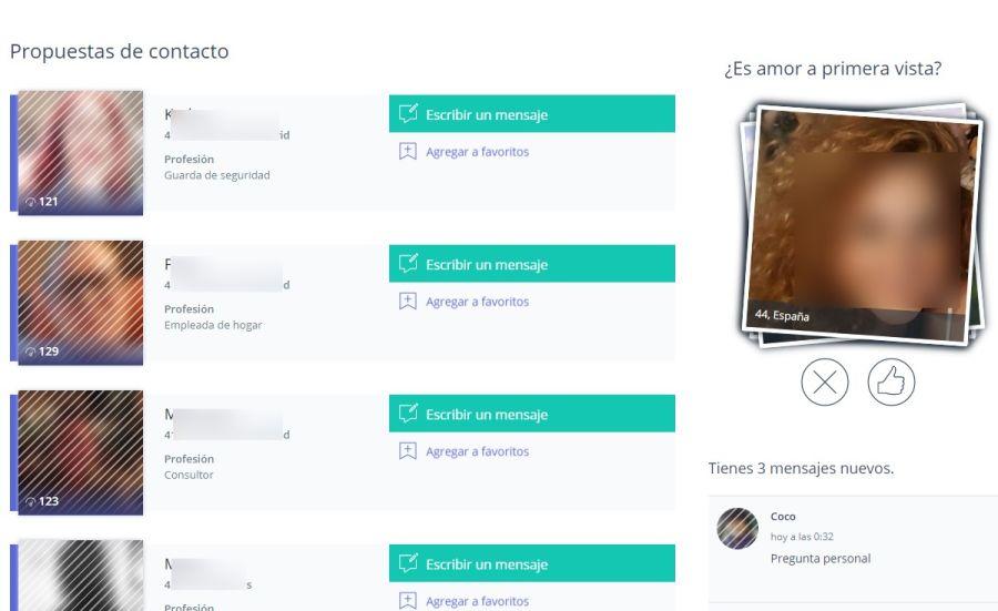 Propuestas de contacto Solteros 50