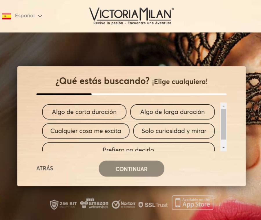 victoria milan registro