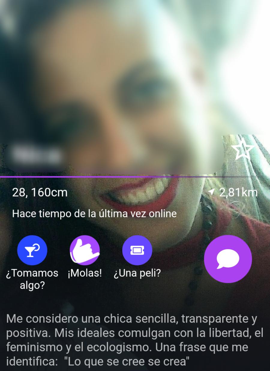 perfil mujer en wapa app